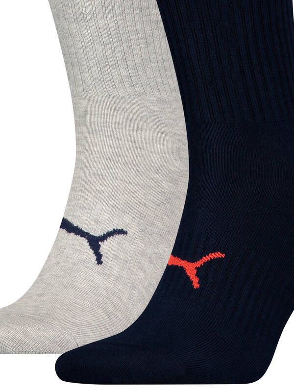 Puma Men Socks Big Logo 2erPack navy/red