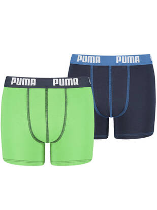 PUMA Junior Fashion Boxer 2erPack green blue