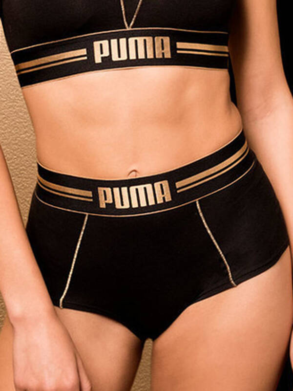 Puma High Waist Short black/gold