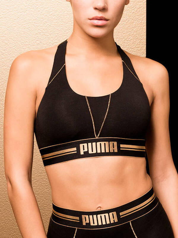 Puma Cross-Back Bra black/gold