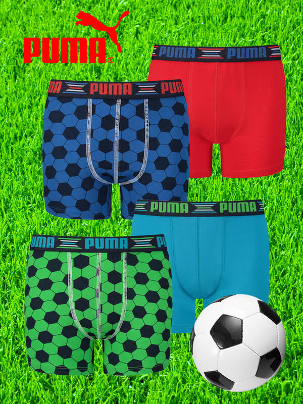 Puma Junior 4erPack Football Boxershorts