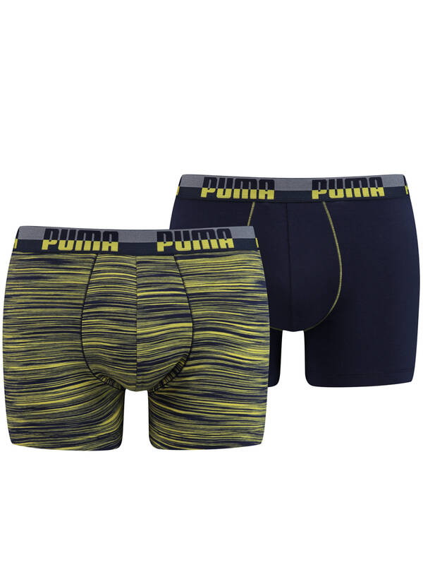 Puma Space Dye Boxer 2erPack navy-yellow
