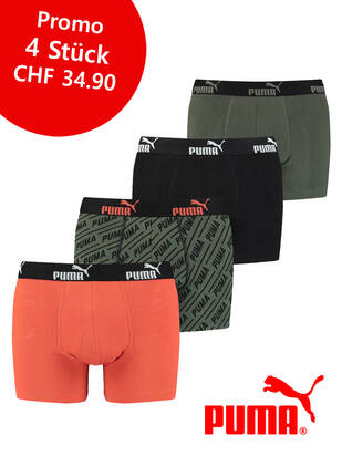 S / 4erPack Puma Solid Boxer