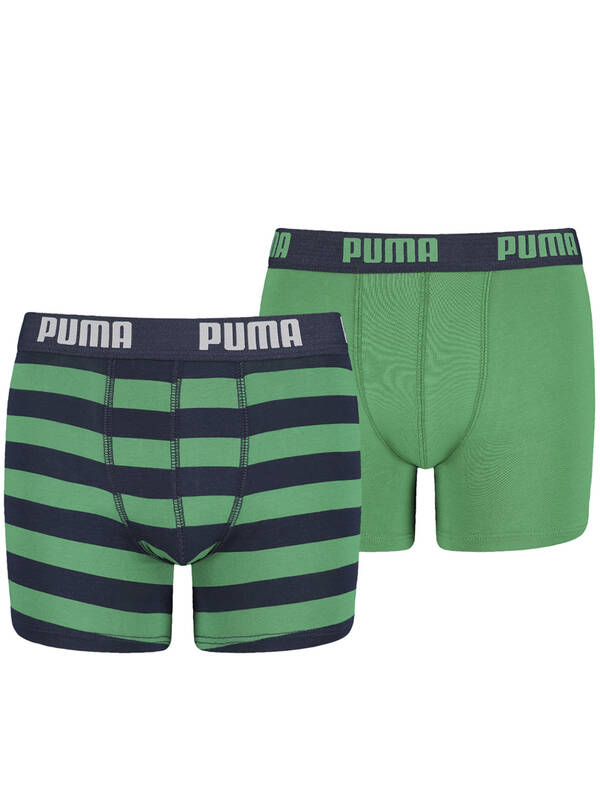 PUMA Junior Striped Boxer 2erPack amazon green