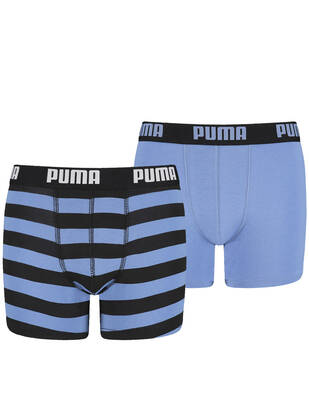 PUMA Junior Striped Boxer 2erPack blue yonder