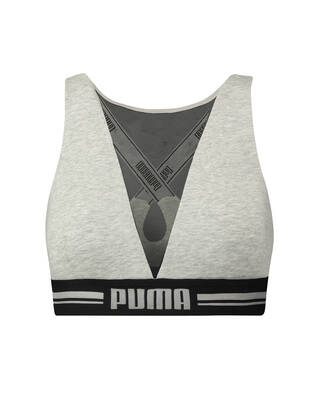 Puma High Neck Bra with Mesh