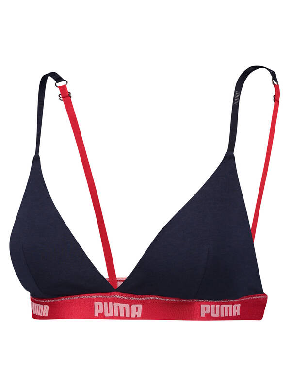 PUMA Triangle Padded Bralette blue/red