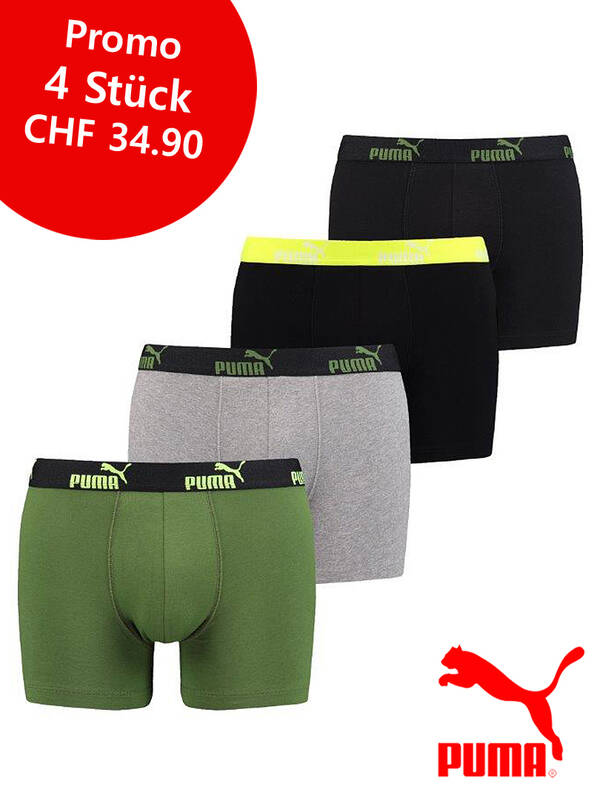 Puma 4erPack Basic Boxer green/black