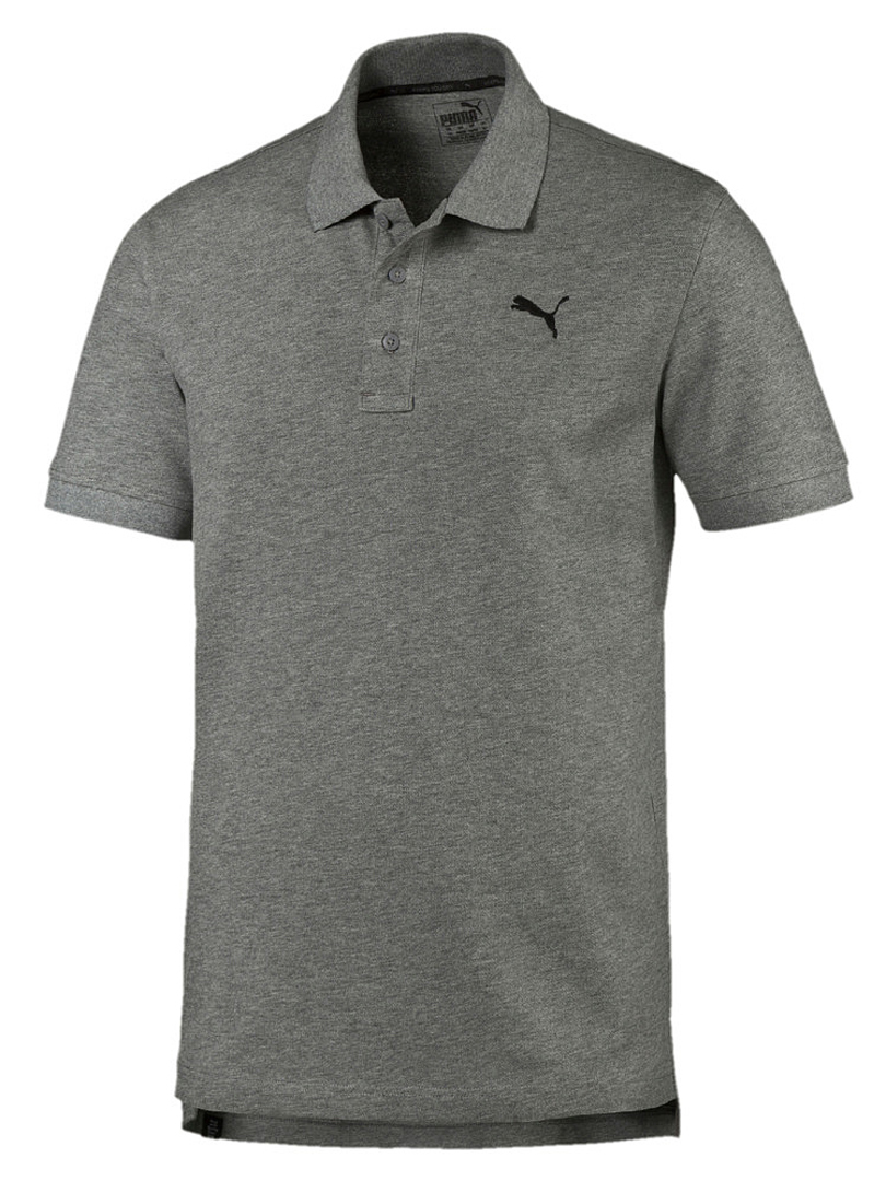 puma essential pique polo medium gray heather tshirts. Black Bedroom Furniture Sets. Home Design Ideas