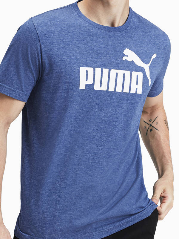 PUMA Essentials Heather Tshirt galaxyblue-heather