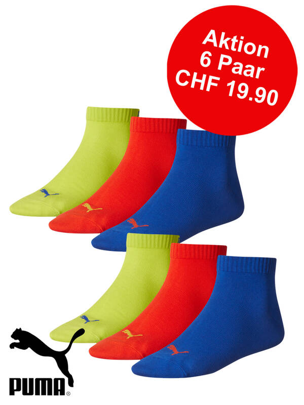 Puma Quarter Promotion 6erPack surf the web/tomato/lime