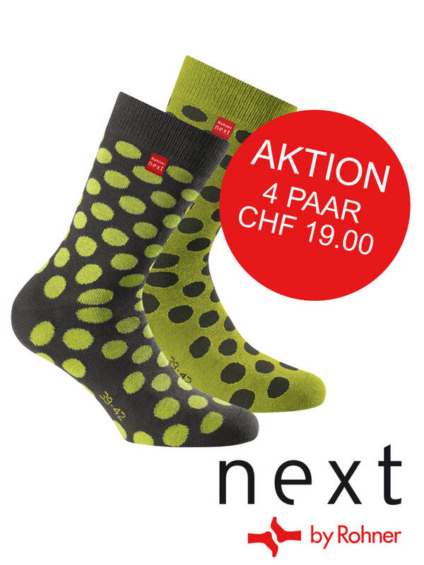 Rohner next 4erPack Fashion Dots grau/lime / Promo
