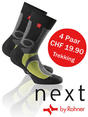 Next by Rohner Trekking 4erPack lemon/black