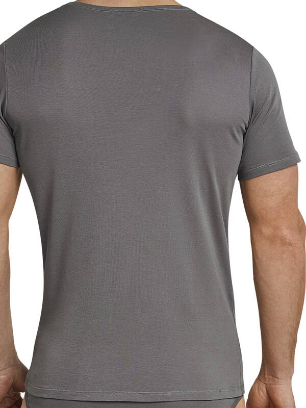 Schiesser Tshirt V-Neck Long Life Cool taupe