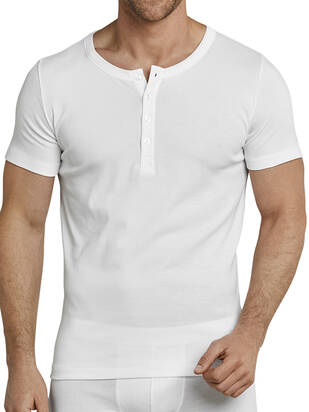 445ad61600cd1a Schiesser Henley Shirt Long Life Cool white