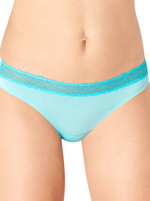 Sloggi Wow Lace String blue-light