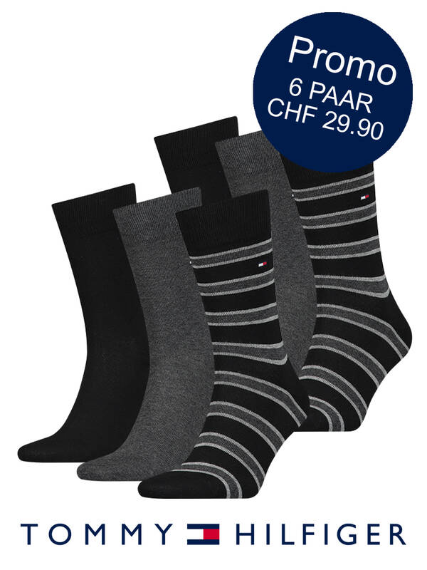 Tommy Hilfiger 6erPack Business-Socken black