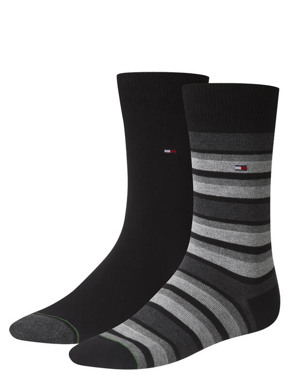Tommy Hilfiger Variation Stripe Socks 2erPack black