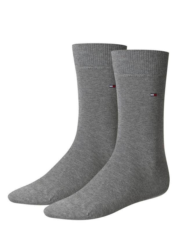Tommy Hilfiger Men Socks Classic 2erPack middle grey melange