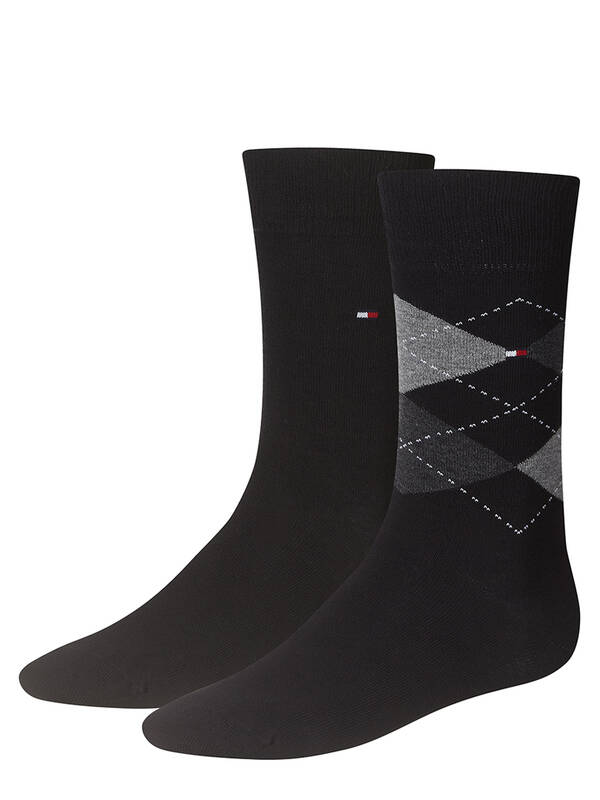 Tommy Hilfiger Men Socks Check 2er Pack black