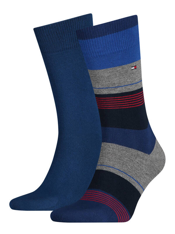 Tommy Hilfiger Men Socks Colorblock 2erPack original